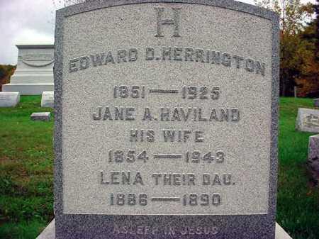 HERRINGTON, EDWARD D - Rensselaer County, New York | EDWARD D HERRINGTON - New York Gravestone Photos