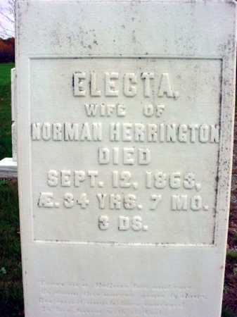 HERRINGTON, ELECTA - Rensselaer County, New York | ELECTA HERRINGTON - New York Gravestone Photos