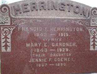 HERRINGTON, FRANCIS T - Rensselaer County, New York | FRANCIS T HERRINGTON - New York Gravestone Photos