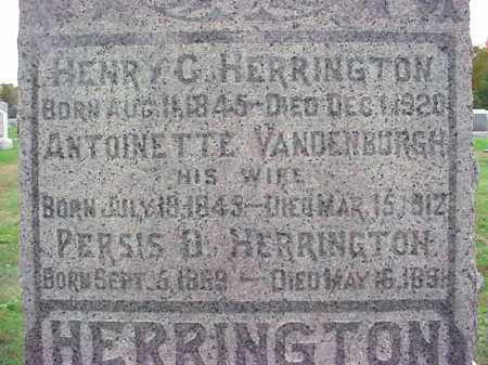 HERRINGTON, HENRY C - Rensselaer County, New York | HENRY C HERRINGTON - New York Gravestone Photos