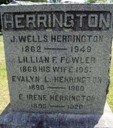 HERRINGTON, EVALYN L - Rensselaer County, New York | EVALYN L HERRINGTON - New York Gravestone Photos