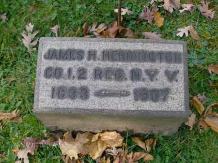 HERRINGTON, JAMES H - Rensselaer County, New York | JAMES H HERRINGTON - New York Gravestone Photos
