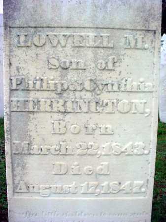 HERRINGTON, LOWELL M - Rensselaer County, New York | LOWELL M HERRINGTON - New York Gravestone Photos