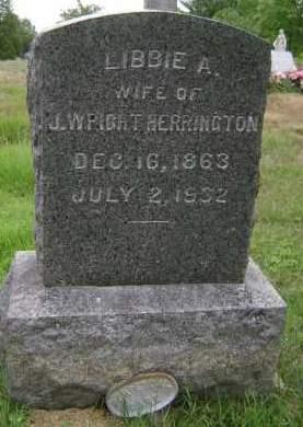 HERRINGTON, LIBBIE A - Rensselaer County, New York   LIBBIE A HERRINGTON - New York Gravestone Photos