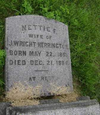 HERRINGTON, NETTIE F - Rensselaer County, New York | NETTIE F HERRINGTON - New York Gravestone Photos