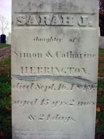HERRINGTON, SARAH J - Rensselaer County, New York | SARAH J HERRINGTON - New York Gravestone Photos
