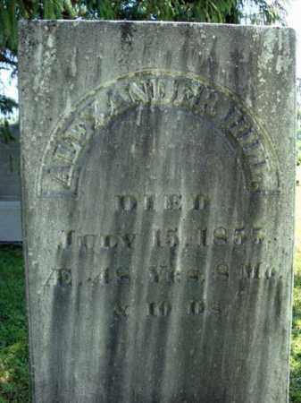 HILL, ALEXANDER - Rensselaer County, New York | ALEXANDER HILL - New York Gravestone Photos