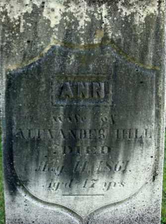 HILL, ANN - Rensselaer County, New York | ANN HILL - New York Gravestone Photos