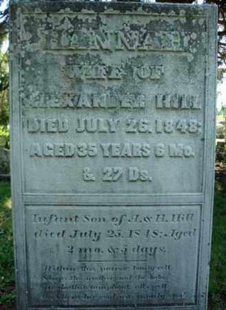 HILL, HANNAH - Rensselaer County, New York | HANNAH HILL - New York Gravestone Photos