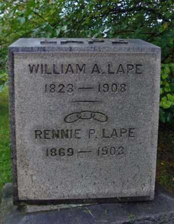 LAPE, WILLIAM A - Rensselaer County, New York | WILLIAM A LAPE - New York Gravestone Photos