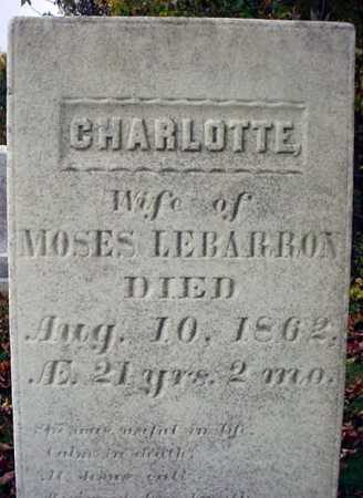 LE BARRON, CHARLOTTE - Rensselaer County, New York | CHARLOTTE LE BARRON - New York Gravestone Photos