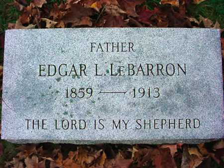 LE BARRON, EDGAR L - Rensselaer County, New York | EDGAR L LE BARRON - New York Gravestone Photos