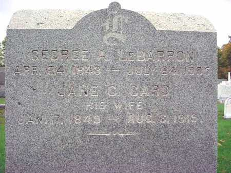 LE BARRON, GEORGE A - Rensselaer County, New York | GEORGE A LE BARRON - New York Gravestone Photos