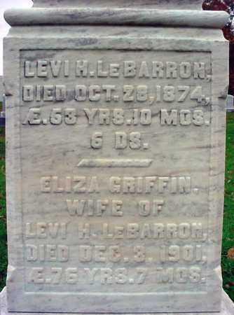 LE BARRON, LEVI H - Rensselaer County, New York | LEVI H LE BARRON - New York Gravestone Photos