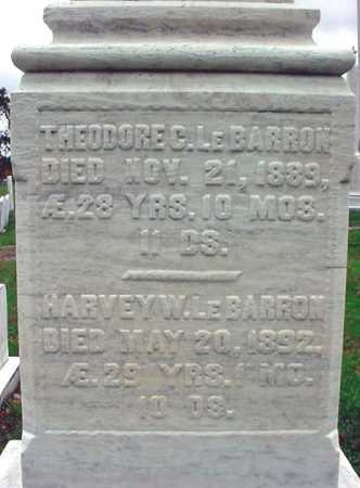 LE BARRON, THEODORE C - Rensselaer County, New York | THEODORE C LE BARRON - New York Gravestone Photos