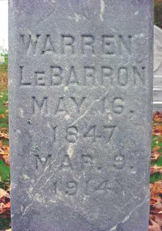 LE BARRON, WARREN - Rensselaer County, New York   WARREN LE BARRON - New York Gravestone Photos
