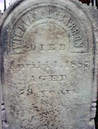 LE BARRON, WILLIAM - Rensselaer County, New York | WILLIAM LE BARRON - New York Gravestone Photos