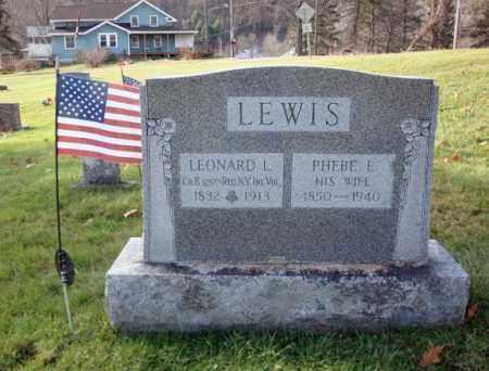 LEWIS, PHEBE E - Rensselaer County, New York | PHEBE E LEWIS - New York Gravestone Photos