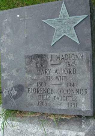 MADIGAN O'CONNOR, FLORENCE - Rensselaer County, New York | FLORENCE MADIGAN O'CONNOR - New York Gravestone Photos
