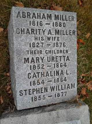 MILLER, CHARITY A - Rensselaer County, New York | CHARITY A MILLER - New York Gravestone Photos