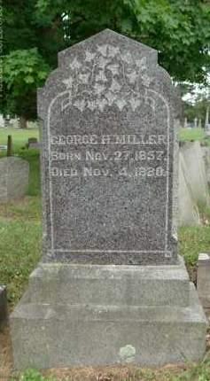 MILLER, GEORGE H - Rensselaer County, New York | GEORGE H MILLER - New York Gravestone Photos
