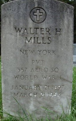 MILLS, WALTER H - Rensselaer County, New York | WALTER H MILLS - New York Gravestone Photos