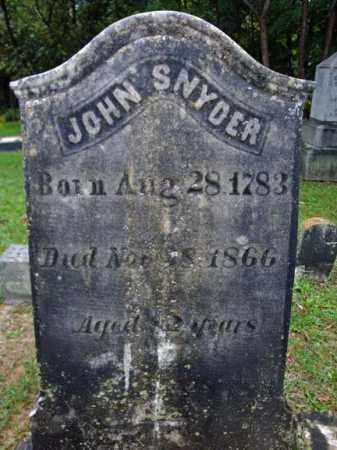 SNYDER, JOHN - Rensselaer County, New York | JOHN SNYDER - New York Gravestone Photos