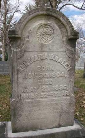 VANALEN, ANN MARIA - Rensselaer County, New York | ANN MARIA VANALEN - New York Gravestone Photos
