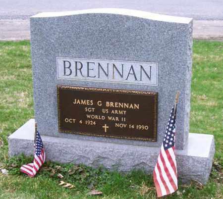 BRENNAN (WWII), JAMES G - Saratoga County, New York | JAMES G BRENNAN (WWII) - New York Gravestone Photos