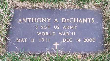 DECHANTS (WWII), ANTHONY A - Saratoga County, New York | ANTHONY A DECHANTS (WWII) - New York Gravestone Photos