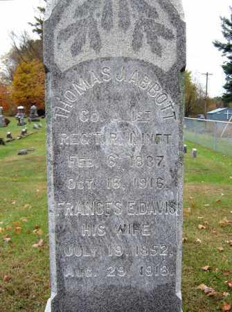 DAVIS, FRANCES E - Saratoga County, New York | FRANCES E DAVIS - New York Gravestone Photos