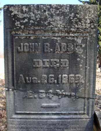 ADSIT, JOHN B - Saratoga County, New York   JOHN B ADSIT - New York Gravestone Photos