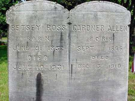 ROSS, BETSEY - Saratoga County, New York | BETSEY ROSS - New York Gravestone Photos