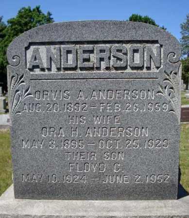 ANDERSON, ORA H - Saratoga County, New York | ORA H ANDERSON - New York Gravestone Photos