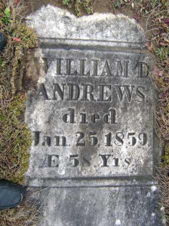 ANDREWS, WILLIAM D - Saratoga County, New York | WILLIAM D ANDREWS - New York Gravestone Photos