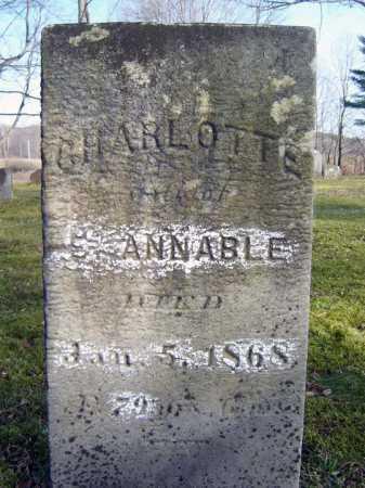 ANNABLE, CHARLOTTE - Saratoga County, New York | CHARLOTTE ANNABLE - New York Gravestone Photos