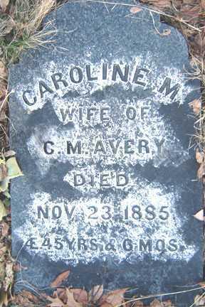 AVERY, CAROLINE M - Saratoga County, New York | CAROLINE M AVERY - New York Gravestone Photos