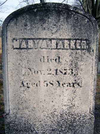 BARKER, MARY A - Saratoga County, New York | MARY A BARKER - New York Gravestone Photos