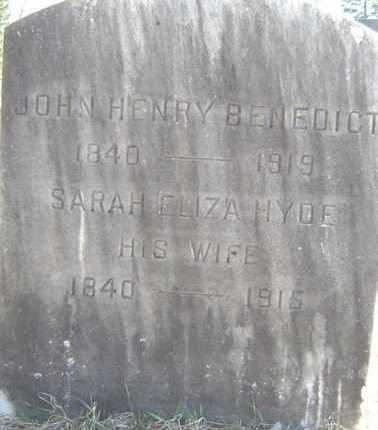 BENEDICT, JOHN HENRY - Saratoga County, New York | JOHN HENRY BENEDICT - New York Gravestone Photos