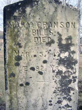 CRANSON BILLS, MARY - Saratoga County, New York | MARY CRANSON BILLS - New York Gravestone Photos