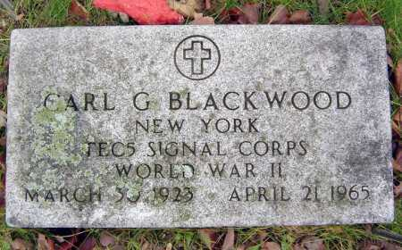 BLACKWOOD, CARL G - Saratoga County, New York   CARL G BLACKWOOD - New York Gravestone Photos