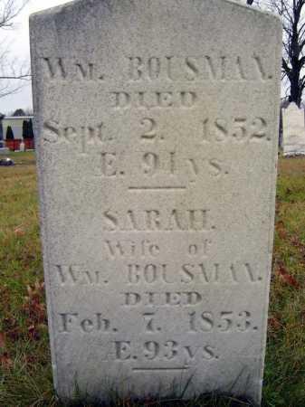 BOUSMAN, WILLIAM - Saratoga County, New York | WILLIAM BOUSMAN - New York Gravestone Photos