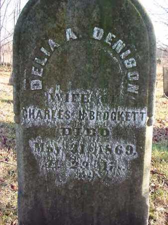 DENISON BROCKETT, DELIA A - Saratoga County, New York | DELIA A DENISON BROCKETT - New York Gravestone Photos