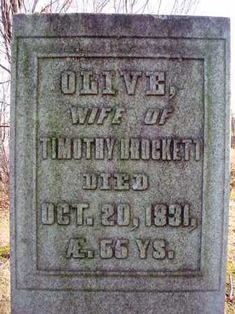 BROCKETT, OLIVE - Saratoga County, New York   OLIVE BROCKETT - New York Gravestone Photos