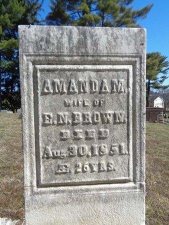 BROWN, AMANDA M - Saratoga County, New York | AMANDA M BROWN - New York Gravestone Photos
