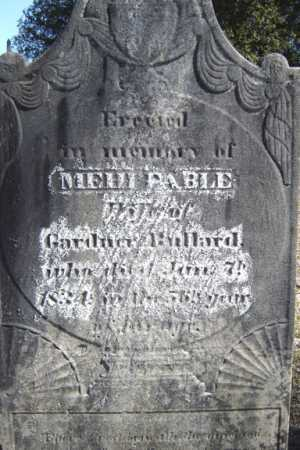 BULLARD, MEHITABLE - Saratoga County, New York | MEHITABLE BULLARD - New York Gravestone Photos