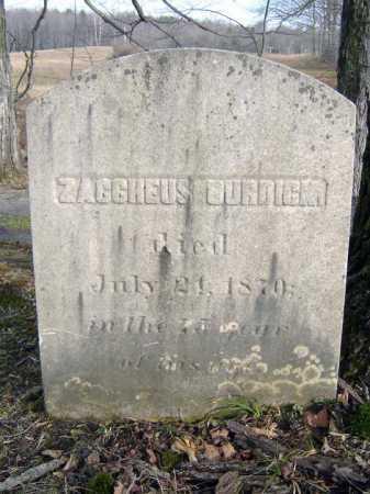 BURDICK, ZACCHEUS - Saratoga County, New York | ZACCHEUS BURDICK - New York Gravestone Photos