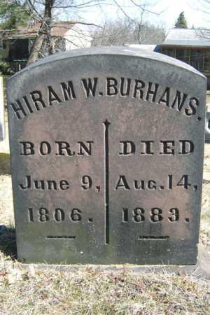 BURHANS, HIRAM WALLACE - Saratoga County, New York | HIRAM WALLACE BURHANS - New York Gravestone Photos