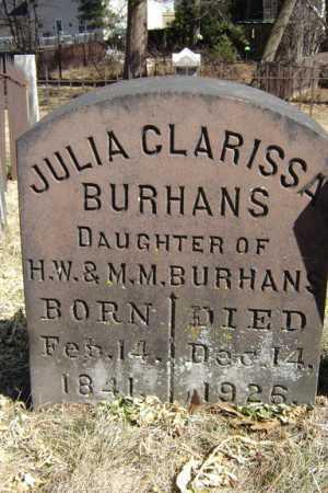 BURHANS, JULIA CLARISSA - Saratoga County, New York | JULIA CLARISSA BURHANS - New York Gravestone Photos