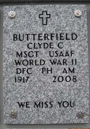 BUTTERFIELD, CLYDE CHARLES - Saratoga County, New York | CLYDE CHARLES BUTTERFIELD - New York Gravestone Photos